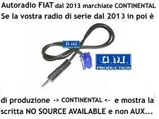 Cavo Aux In MP3 iPod Fiat Panda Punto NO SOURCE AVAILABLE radio CONTINENTAL 1,4M