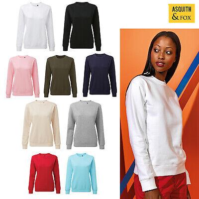 Nuova Moda Asquith & Fox Women's Felpa Girocollo Organico Aq079-