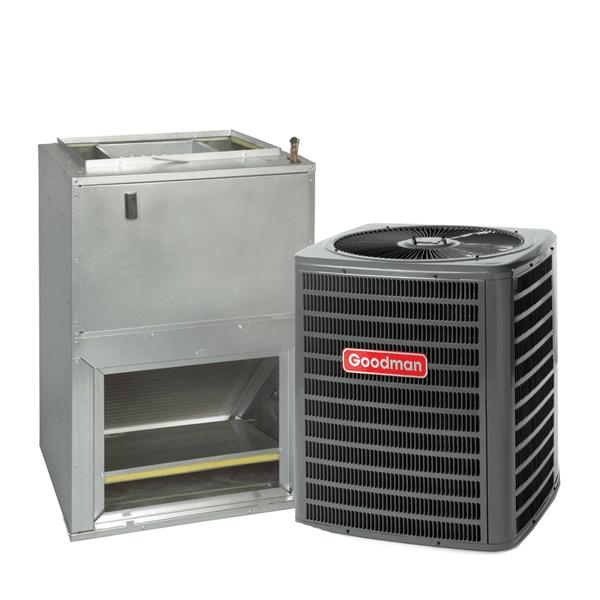 2 Ton 15 Seer Goodman Heat Pump System GSZ140241 - AWUF32101 - TX2N4