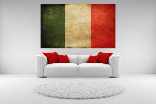 Italian Flag Canvas Giclee Vintage Print Unframed Home Decor Wall Art
