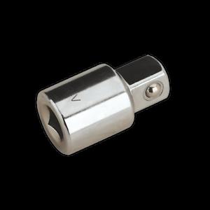 S38F-12M-Sealey-Adaptor-3-8-034-Sq-Drive-Female-to-1-2-034-Sq-Drive-Male