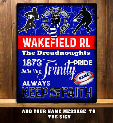 Tin Sign XXL Fun  Rugby