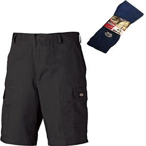 Dickies Redhawk PRO Lavoro Cargo Combat Pantaloncini Nero