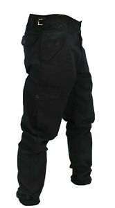 NEW Mens hard wearing black action combat cargo work trousers Multi pockets