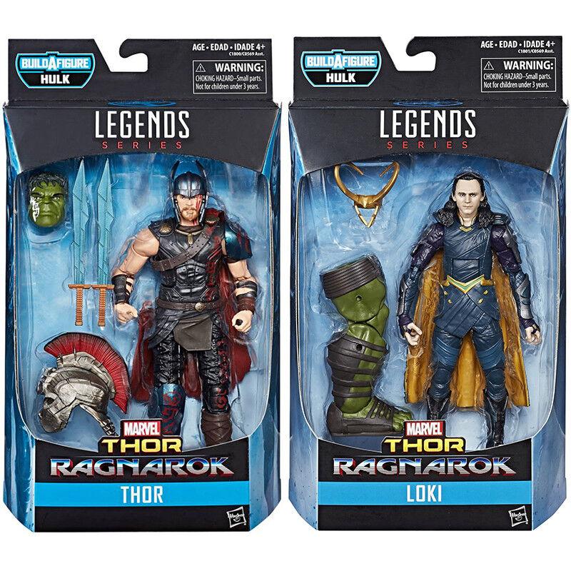 2017 Marvel Legends Movie Thor Ragnarok 6  Figure Loki 2Pcs Set + BAF