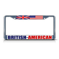 British American Metal License Plate Frame Tag Border Two Holes