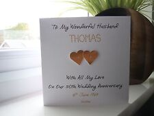 Personalised th golden wedding anniversary card for wife or