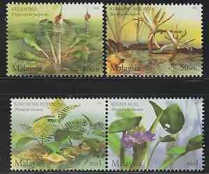 (289)MALAYSIA 2002 AQUATIC PLANTS SET FRESH MNH