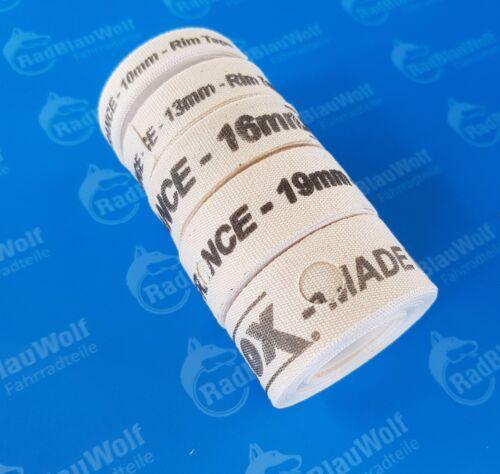 Velox Felgenband Textilband Gewebeband  Baumwollband 2m 10 13 16 19  22mm