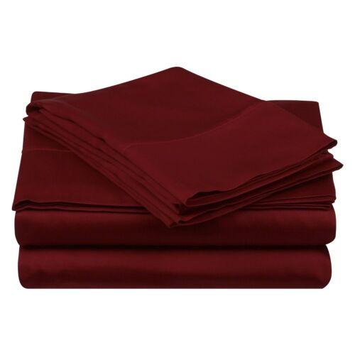 1 Luxor 100/% Egyptian Cotton Pillowcases 1200 TC ~ Burgundy ~ King 20 x 41 NEW