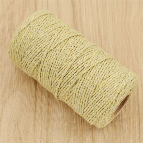 100Yard Cotton Craft Twisted Rope String Cord Macrame DIY Handmade Accessories
