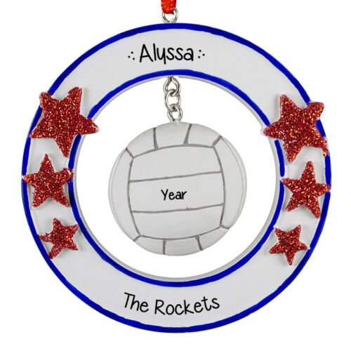 3D Volleyball Personalized Christmas Ornament
