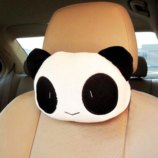 Cute Panda Car Auto Seat Head Neck Rest Cushion Headrest Relax Pillow Pad Cover