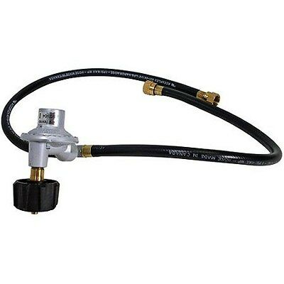 """Grill Master Flame Gas Grill  21/"""" Dual LP Propane Regulator /& Two Hoses QCC1 New"""