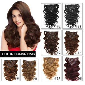 Body-Wave-Clip-In-Virgin-Human-Brazilian-Hair-Full-Head-Hair-Extension-100g-set