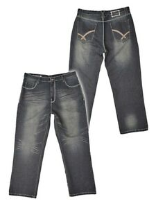 20cd27c39f4 NEW   Mens Big Size Ed Baxter Designer Jeans 46 48 50 52 54 56 Leg ...
