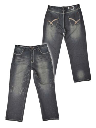 **NEW** Mens Big Size Ed Baxter Designer Jeans 46 48 50 52 54 56 Leg 30 or 32