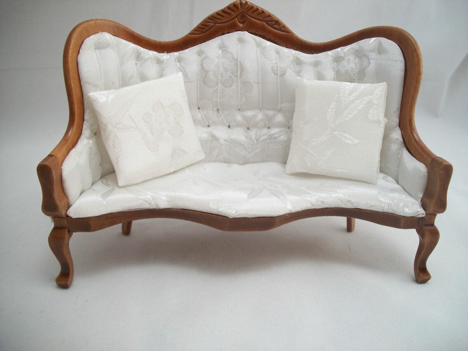 Viktorianisch Wohnzimmer Salon Salon Salon Set Walnuss Puppenhaus 1/12 Maßstab T0129 Holz 185d3d