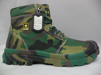 Men's Us Army Woodland Camoflage Boots-ua641100wcm