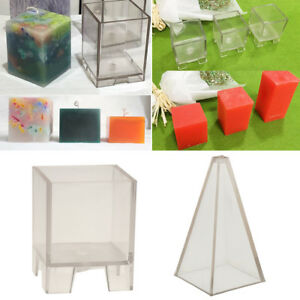 2Pcs-Plastic-Clear-Candle-Making-Model-Candle-Mould-DIY-Soap-Mold-Craft-Tool