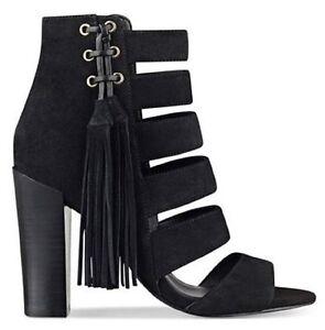 1a0c844a38b Women s Shoes GUESS BLASA Heels Sandals Shootie Tassel Suede Black ...