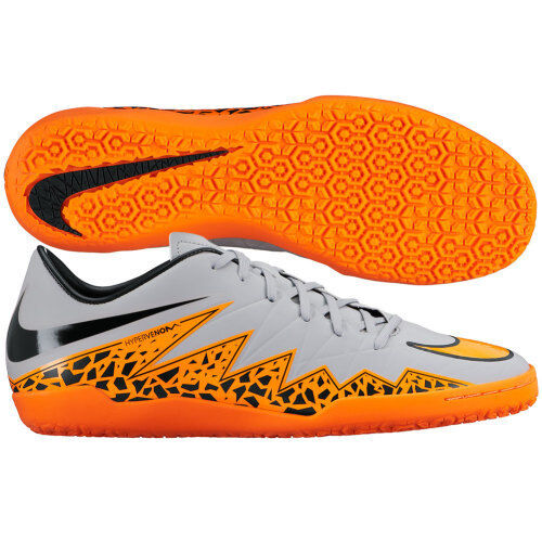 united states the latest fast delivery Nike HyperVenom IN Phelon II INDOOR 2015 Soccer SHOES Gray / Orange / Black