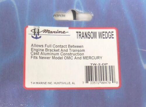 TH Marine Transom Wedge Pair TW-2-DP ADDS 5 DEGREE OF NEGATIVE TRIM!