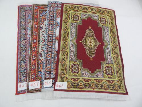 6x9 #98-LOT  Dollhouse Miniature 1:12 Scale Floor Carpet  Woven Rug  4 pcs