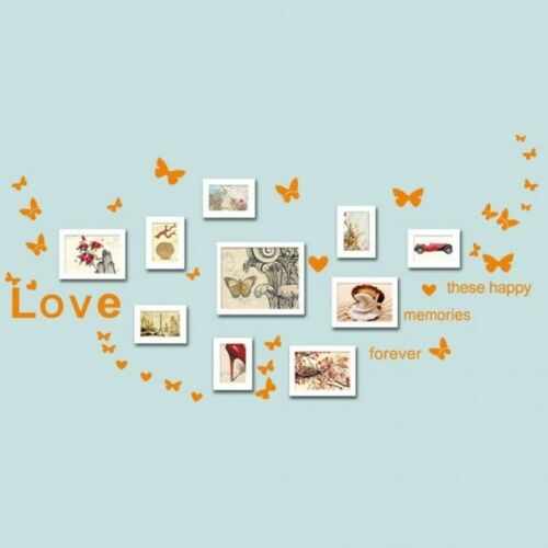 Butterfly Words Phrases Love Heart Living Room Wall Stickers Decor Decals Home