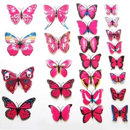 Lot 3D Butterfly Sticker Art Design Decal Wall Decals Kids Home Decor Magnet //SM