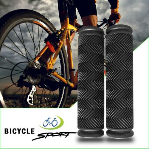 2pcs Non Slip Soft Rubber Mountain Bicycle Handlebar MTB Bike Handle Grips HY#U