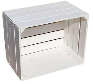 Details About 1 X White Washed Le Crate Distressed Storage Bo Box Ikea Alternative