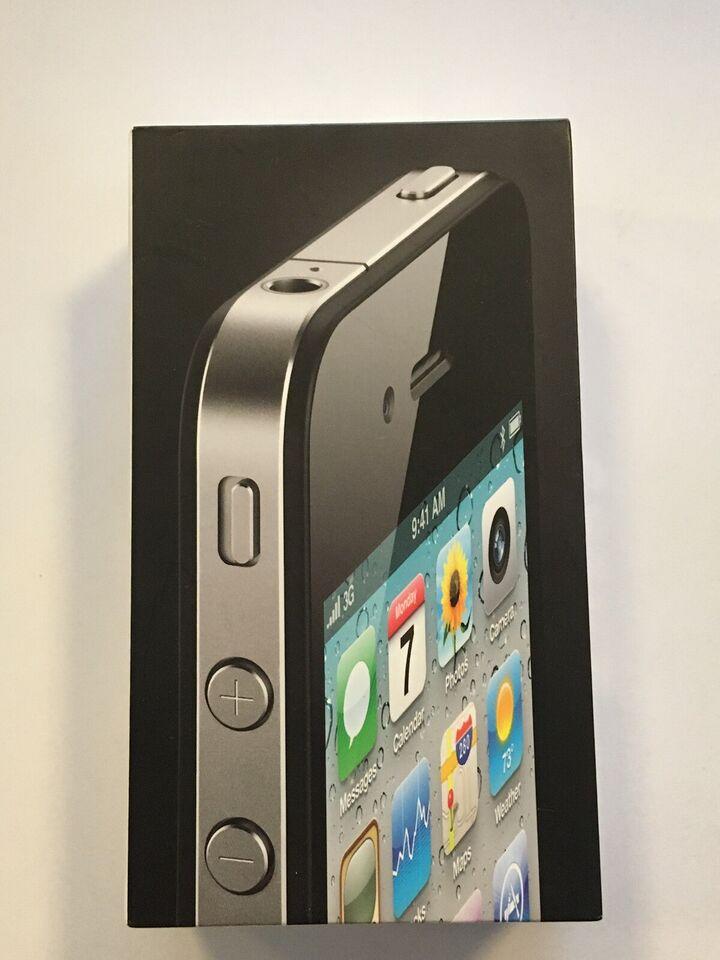 iPhone 4, 16 GB, sort