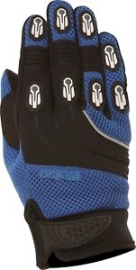 Weise-Dakar-Blue-Black-Leather-Mesh-Lycra-MX-Motocross-Motorcycle-Gloves