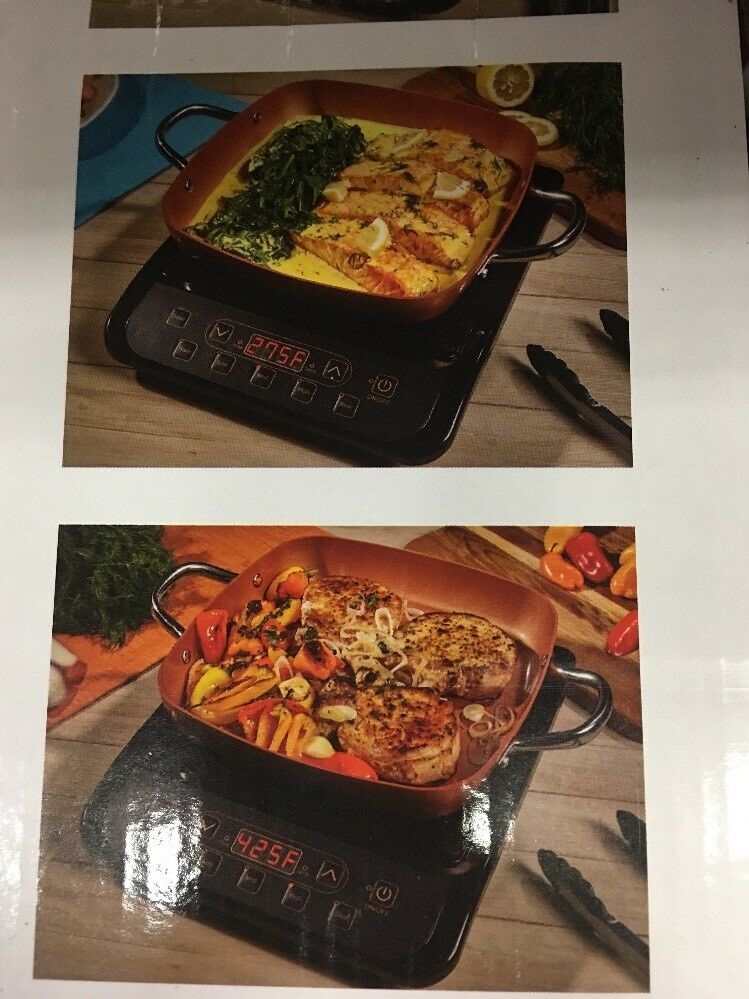NIB Copper Chef Induction Cooktop with Frying Pan - - - Brand New Box 4c6f06