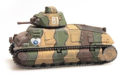 H0 WWII French Army Somua S35 Fertigmodell Neu Artitec 387.20-1//87