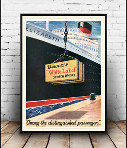 Dewars-Whisky-vintage-alcohol-advert-Poster-Wall-art-Reproduction