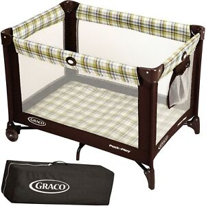 Graco Pack n Play Playard Baby Travel Portable Brown on Go Infant...