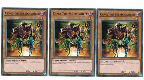 3 x Chaos Totenbeschwörer YSKR-DE017 Playset Mint Common Deutsch
