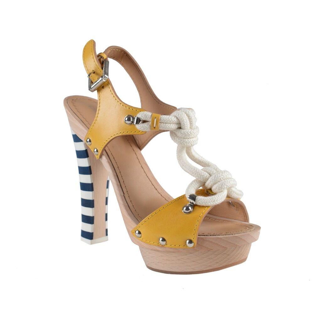 Piattaforma in pelle,  slingback Sandals Heels scarpe Sz 6 7 9  vendita online