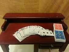 Dolls House Miniature Study, Games Pub Accessory Complete Deck of Playing Cards