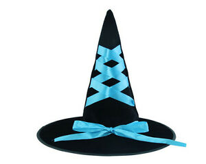 New-Blue-Black-Women-Party-Witch-Hat-For-Halloween-Costume-Accessory-Decoration