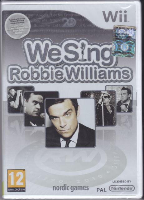Nintendo Wii **WE SING ROBBIE WILLIAMS** nuovo import Pal