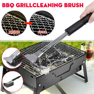 """17/"""" BBQ Grill Brush Barbecue Cleaning Tool Grill Scraper Long Handle"""