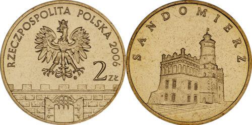 """Sandomierz/"""" UNC Poland 2006-2 zlotych /""""Towns in Poland Series"""