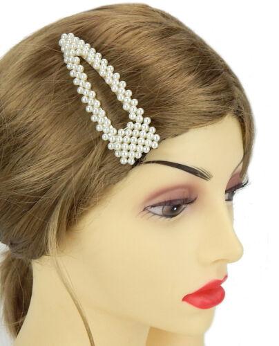 Ella Jonte große Haarklammer Perlen weiß silber Haarklemme Haarspange Trend neu