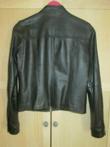 Soft Rock Leather Ladies Uk Chic Fear Bikers Black taglia No 10 Coat Style pqwXxTIXE