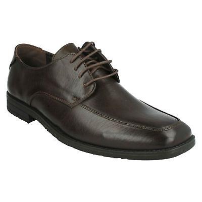 A2R060 Mens Black Lace Up Formal Smart Malvern Shoes