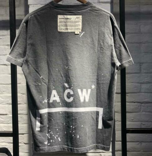 ACW does vintage washed loose-fitting printed short-sleeved t-shirts