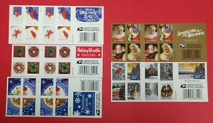 5 DIFFERENT BOOKS US CHRISTMAS FOREVER MNH NICE! START @ JUST 60.00 FREE SHIP!
